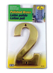 Hy-Ko 5 in. Gold Brass Nail-On Number 2 1 pc.