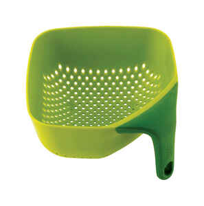 Joseph Joseph  6-1/4 in. W x 6-1/4 in. L Green  Colander with Side Handle