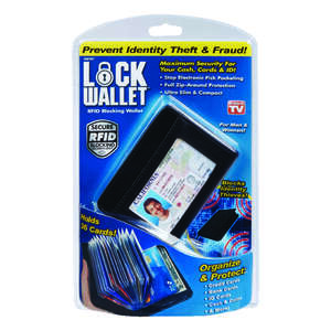 Lock Wallet  As Seen On TV  Security Wallet  Plastic  1 pk