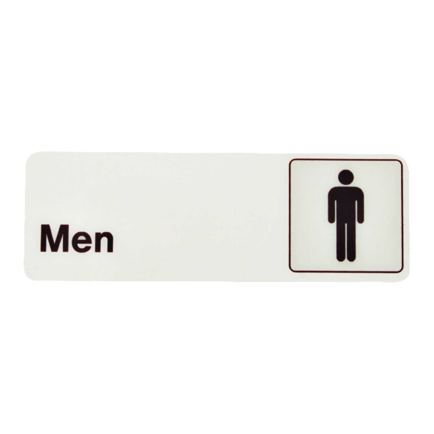 Hy-Ko  English  Men  3 in. H x 9 in. W Sign  Plastic