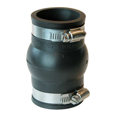 Fernco  Schedule 40  1-1/2 in. Hub   x 1-1/2 in. Dia. Hub  PVC  Expansion Coupling