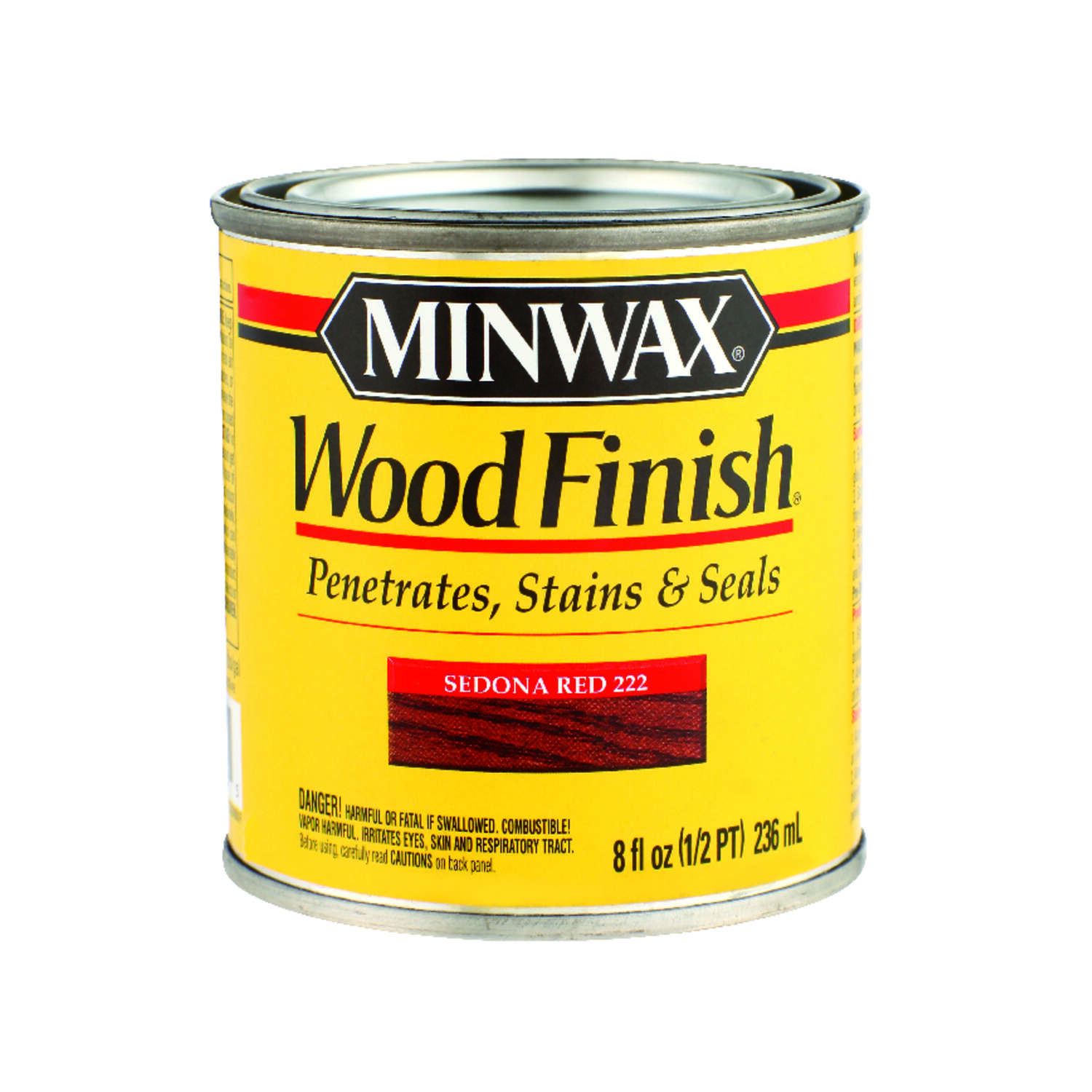 Minwax  Wood Finish  Transparent  Sedona Red  Wood Stain  0.5 pt.
