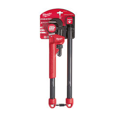 Milwaukee Cheater Pipe Wrench Black/Red 1 pk