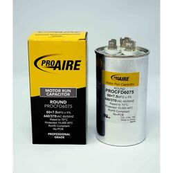Perfect Aire ProAire 60+7.5 MFD 370 volt Round Run Capacitor