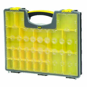 Stanley  16-1/4 in. L x 13-1/2 in. W x 3 in. H Storage Organizer  Polypropylene  24 compartment Gray