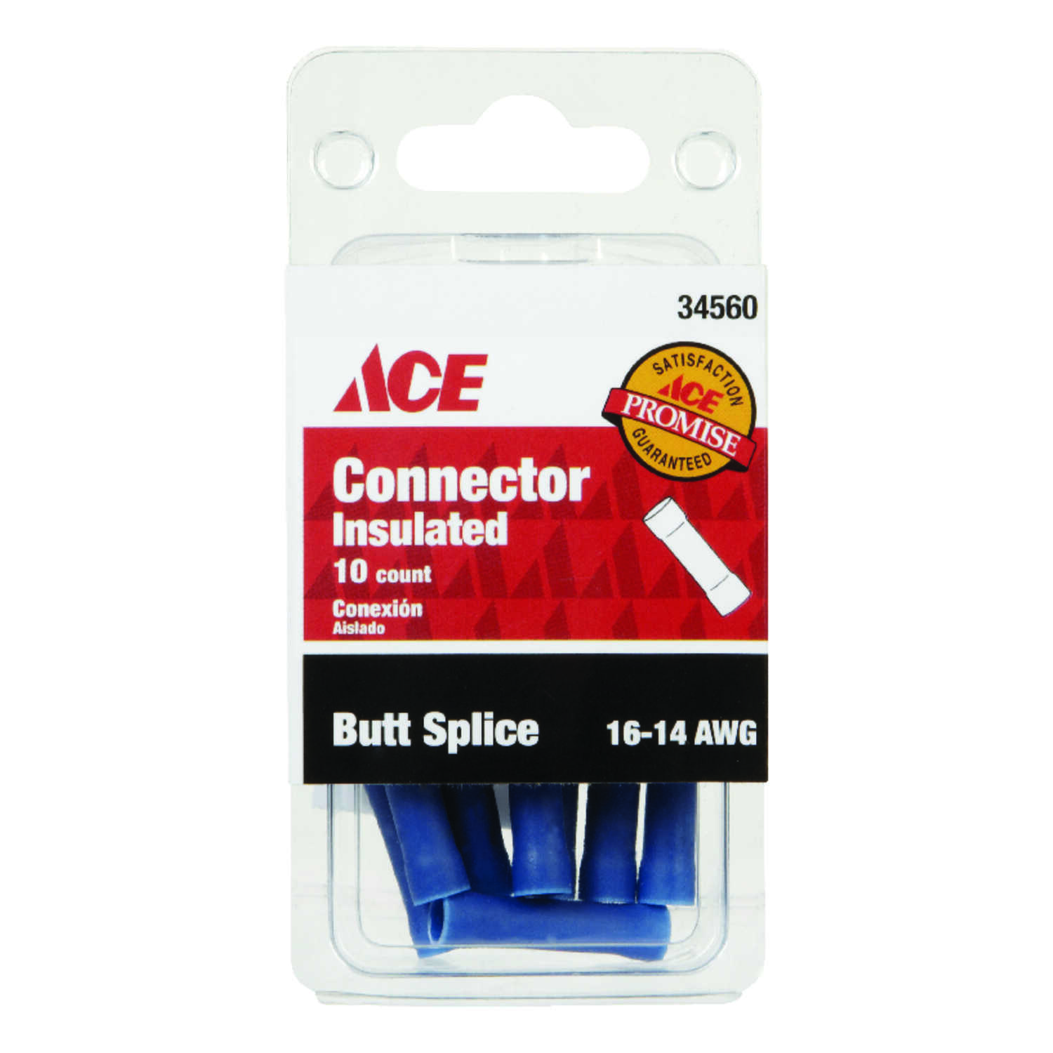 Ace  Insulated Wire  10  16-14 AWG Butt Connector