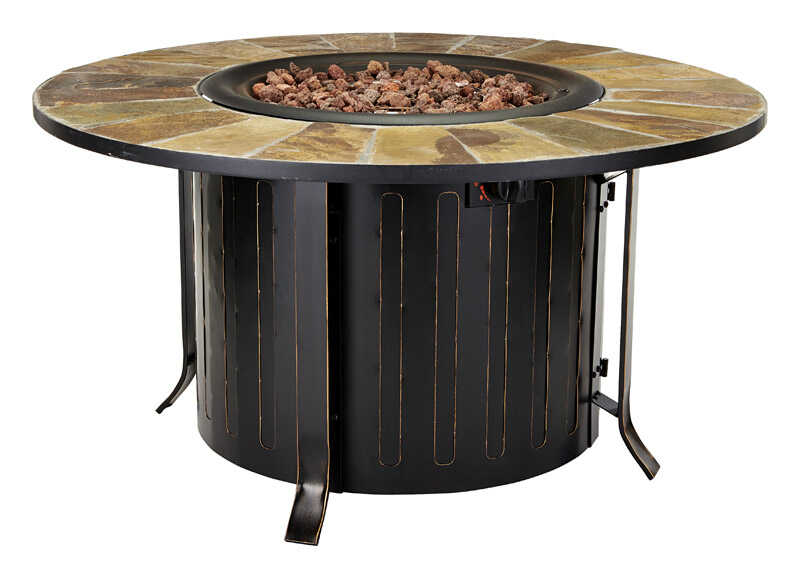 Bond  Montini  Propane  Fire Table  24 in. H x 46 in. W x 46 in. D Steel
