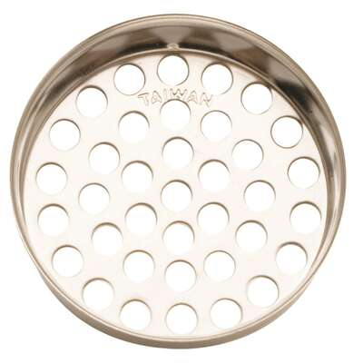 Plumb Pak  1-3/8 in. Dia. Chrome  Stainless Steel  Strainer Basket