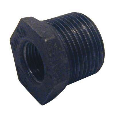BK Products  Southland  4 in. Male   x 2-1/2 in. Dia. Female  Black  Malleable Iron  Hex Bushing