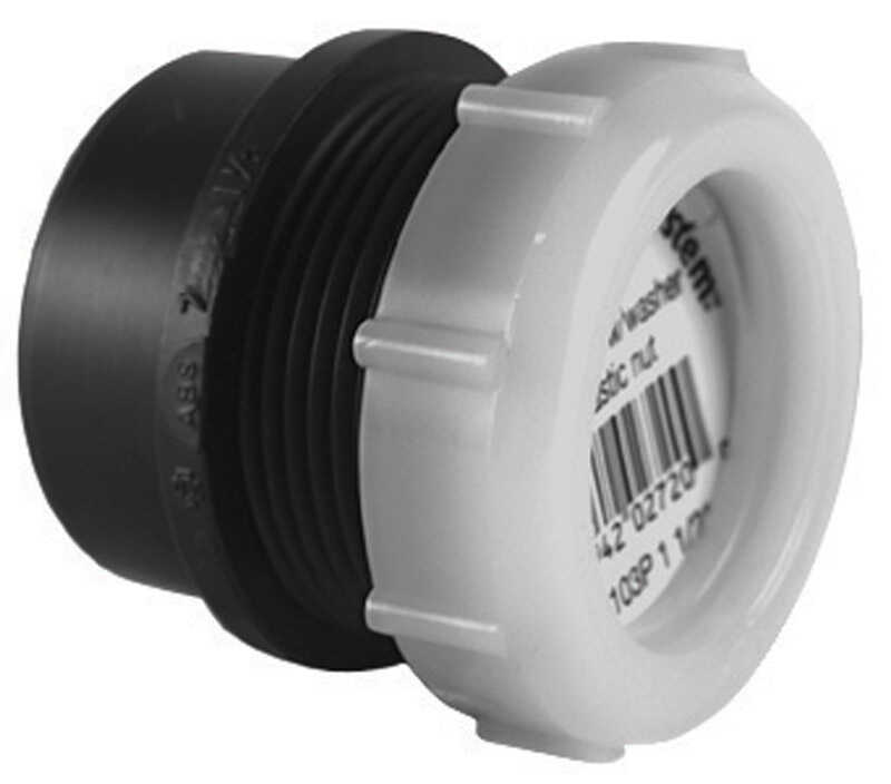 Charlotte Pipe  Schedule 40  1-1/2 in. Spigot   x 1-1/4 in. Dia. Slip  ABS  Trap Adapter