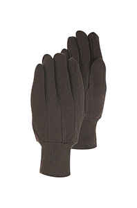 Handmaster  S  Jersey Cotton  Utility  Brown  Gloves