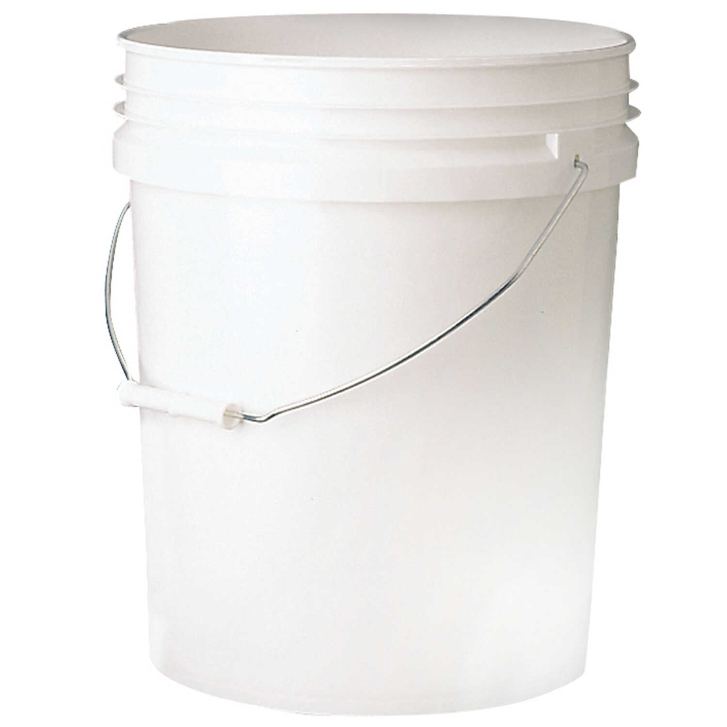 Leaktite  White  5 gal. Plastic  Bucket