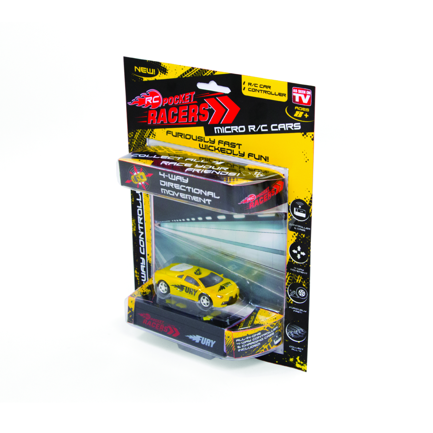 RC Pocket Racers  As Seen On TV  Radio Controlled Car  Metal/Plastic/Polyester