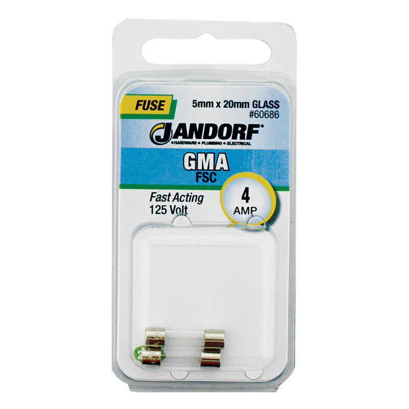 Jandorf  GMA  4 amps Fast Acting Fuse  2 pk