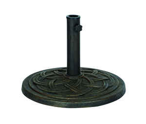 Bond  Bronze  Envirostone  Umbrella Base  17.7 in. L x 17.7 in. W x 13.18 in. H