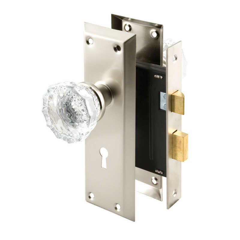 Prime-Line  Plated  Steel  1-3/4 in. Mortise Lockset  Grade 1