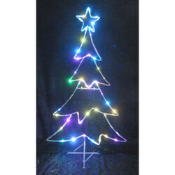 Celebrations  LED Micro Dot Tree  Yard Art  Iron  Multicolored