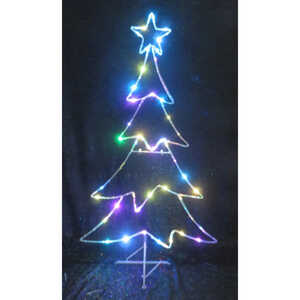 Celebrations  LED Micro Dot Tree  Yard Art  Multicolored  Iron  1 pk