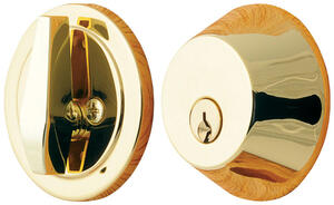 Ace  Polished Brass  Single Cylinder Deadbolt