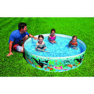 Intex  Ocean Coral Reef  258 gal. 15 in. H x 72 in. Dia. Snapset Pool