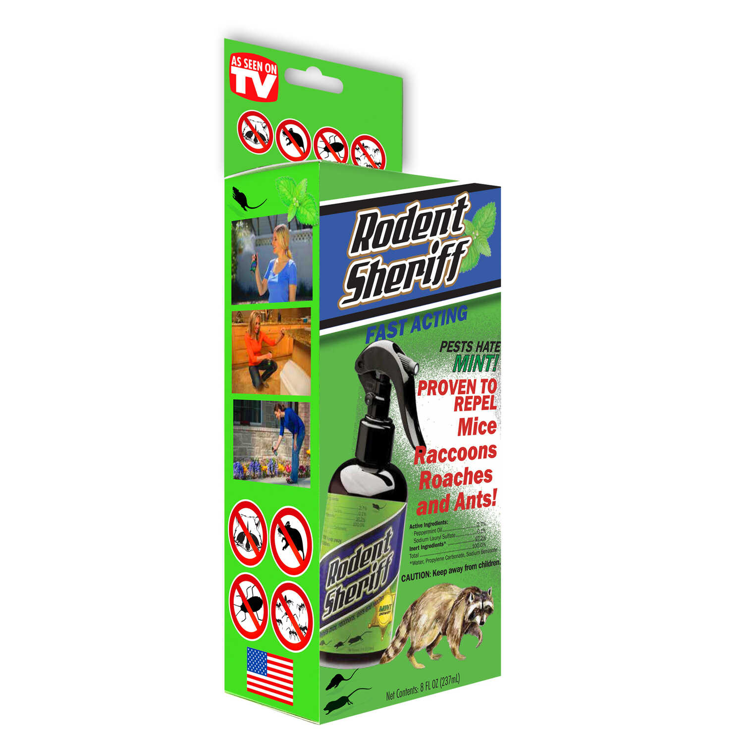 Rodent Sheriff  As Seen on TV  For Rodents Animal Repellent  8 oz.