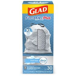 Glad  Kitchen Pro  20 gal. Trash Bags  Drawstring  30 pk