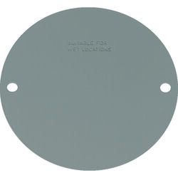 Sigma Electric Round Steel Flat Box Cover For Wet Locations