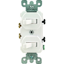 Leviton  15 amps Single Pole  Toggle  Switch  White  1 pk