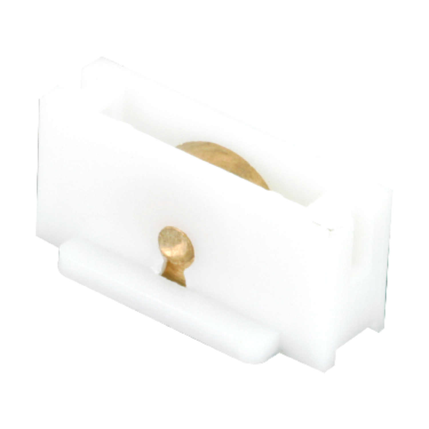 Prime-Line  White  Brass  Window Roller  For Universal