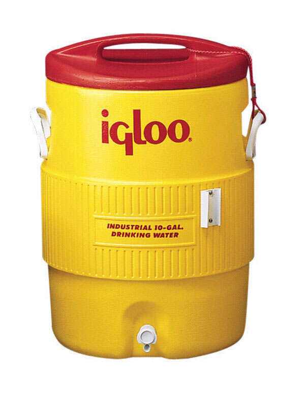Igloo  Industrial  Water Cooler  10 gal. Red/Yellow