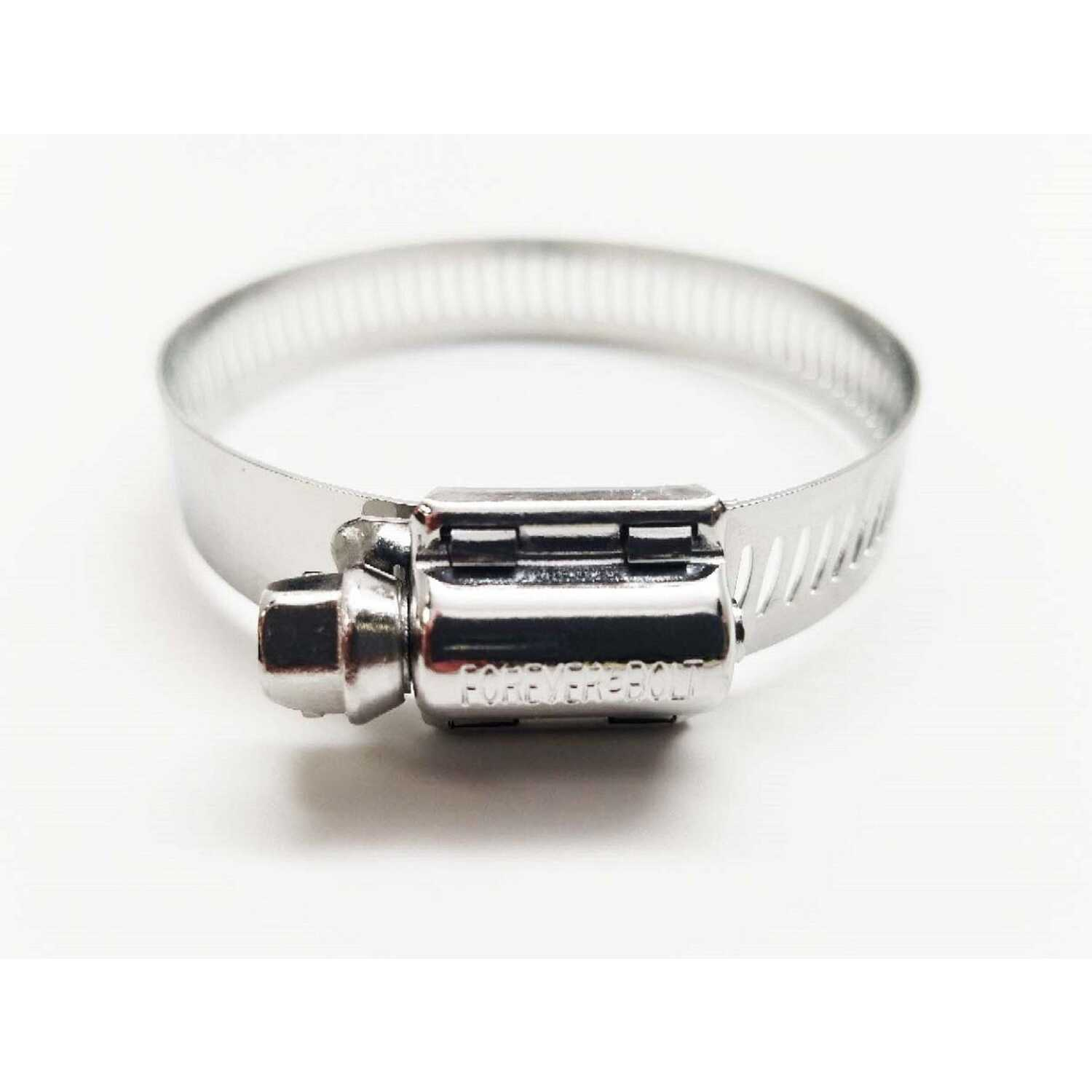 FOREVER BOLT  1-5/16 in. to 2-1/4 in. Stainless Steel  Band  Hose Clamp