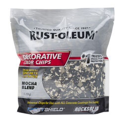 Rust-Oleum EpoxyShield Indoor and Outdoor Mocha Blend Decorative Color Chips 1 lb.