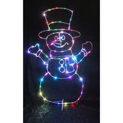 Celebrations  LED Micro Dot Snowman  Yard Art  Multicolored  Iron