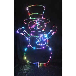 Celebrations  LED Micro Dot Snowman  Yard Art  Multicolored  Iron  1 pk