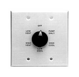 Dial  1-1/4 in. H x 5-3/4 in. W Metal  Black  Evaporative Cooler Wall Switch