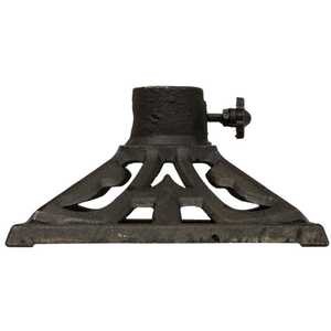 Tiki  Black  Torch Stand  Cast Iron