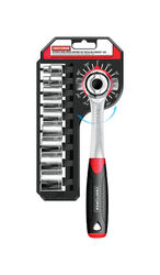 Craftsman  3/8 in. drive Steel  Metric  Dual Drive Ratchet  1 pc.