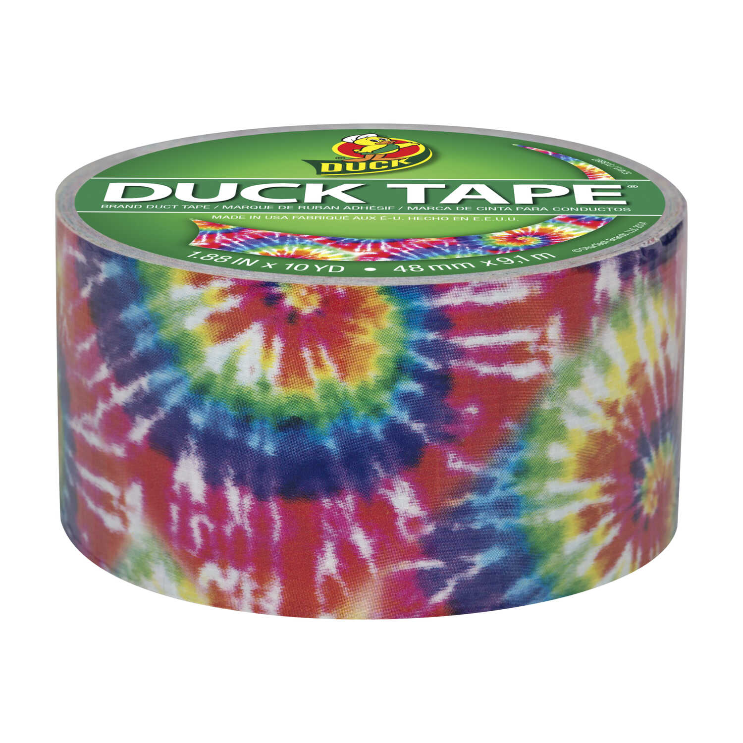Duck  1.88 in. W x 10 yd. L Multicolored  Love Tie Dye  Duct Tape