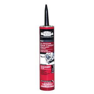 Black Jack  Gloss  Black  Patching Cement  Wet/Dry Surface Roof Cement  10 oz.