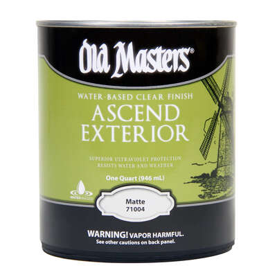 Old Masters Ascend Matte Clear Water-Based Finish 1 qt.