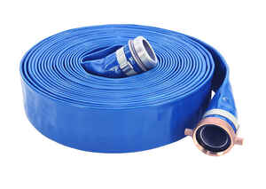 Abbott Rubber  Discharge Hose  2 in. Dia. x 2 3/8 in. Dia. x 50 ft. L PVC
