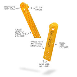 Hang and Level  Yellow  Hang and Level  10 lb. Picture Hanger