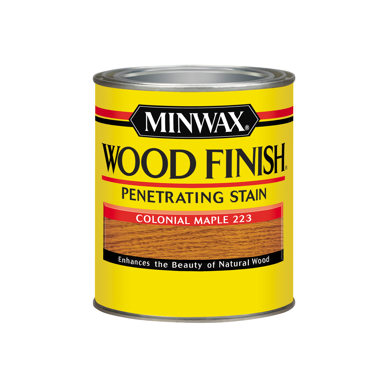 Minwax  Wood Finish  Semi-Transparent  Colonial Maple  Oil-Based  Oil  Stain  1 qt.