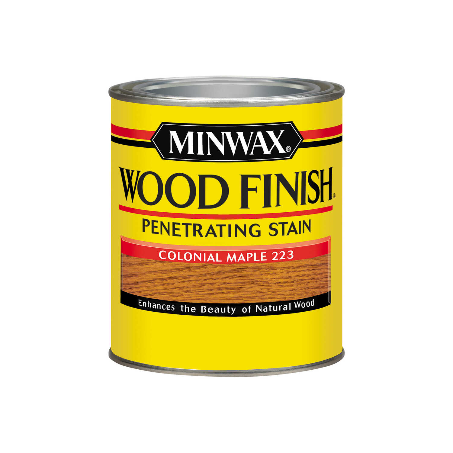 Minwax  Wood Finish  Semi-Transparent  Colonial Maple  Oil-Based  Stain  1 qt.