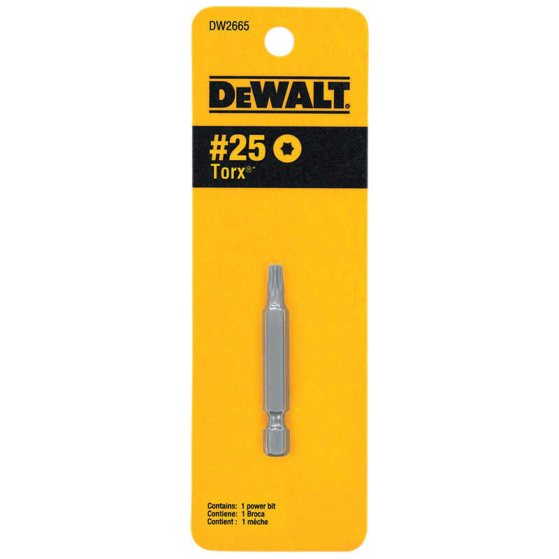 DeWalt  2 in. L x T25 in.  Screwdriver Bit  Heat-Treated Steel  1 pc. Torx