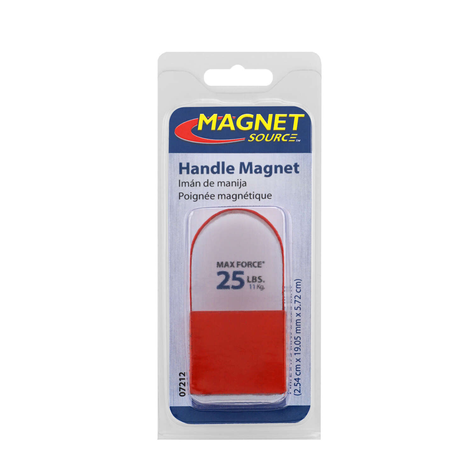 Master Magnetics  The Magnet Source  1 in. Ceramic  Handle  Handle Magnet  25 lb. 3.4 MGOe Red  1 pc