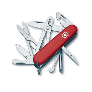 Victorinox Swiss Army  Deluxe Tinker  Red  Stainless Steel  3.5 in. Pocket Knife