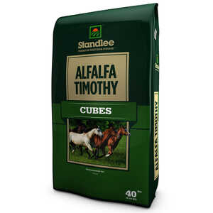 Standlee Premium Western Forage  Alfalfa/Timothy  Cubes  For Horses 40 lb.