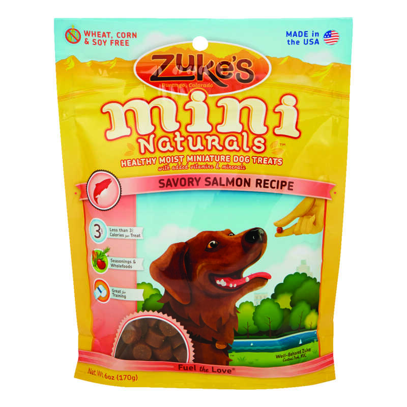Zuke's  All Natural Mini  Salmon  Dog  Treats  1 pk 6 oz.