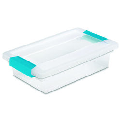 Sterilite 2.75 in. H x 6.625 in. W x 11 in. D Stackable Clip Storage Box